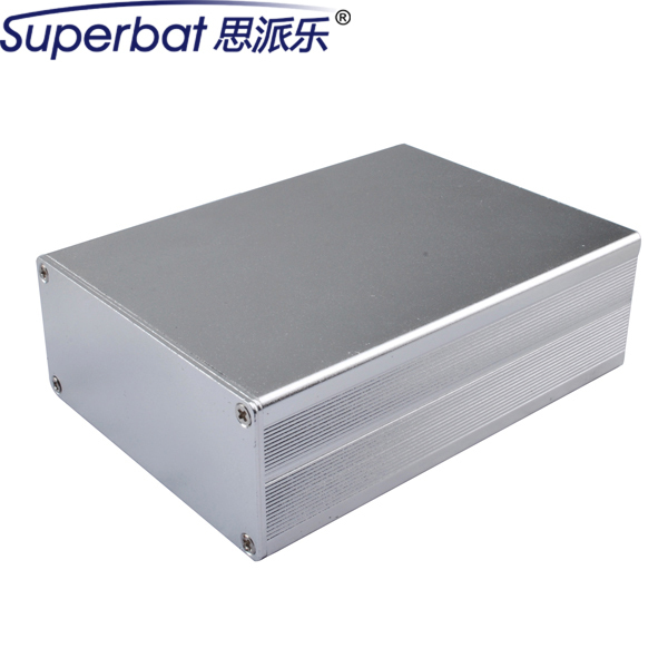 "Superbat 1.44""*3.15""*4.33"" Instrument Silver Extruded Aluminum Enclosure Electronics Box Case for PCB Amplifier 36.5x80x110mm"