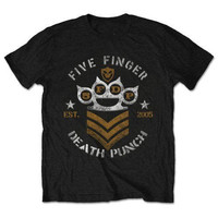 FIVE FINGER DEATH PUNCH Chevron T Shirt Men S Music Cotton Tee Shirt FFDP EST 2015