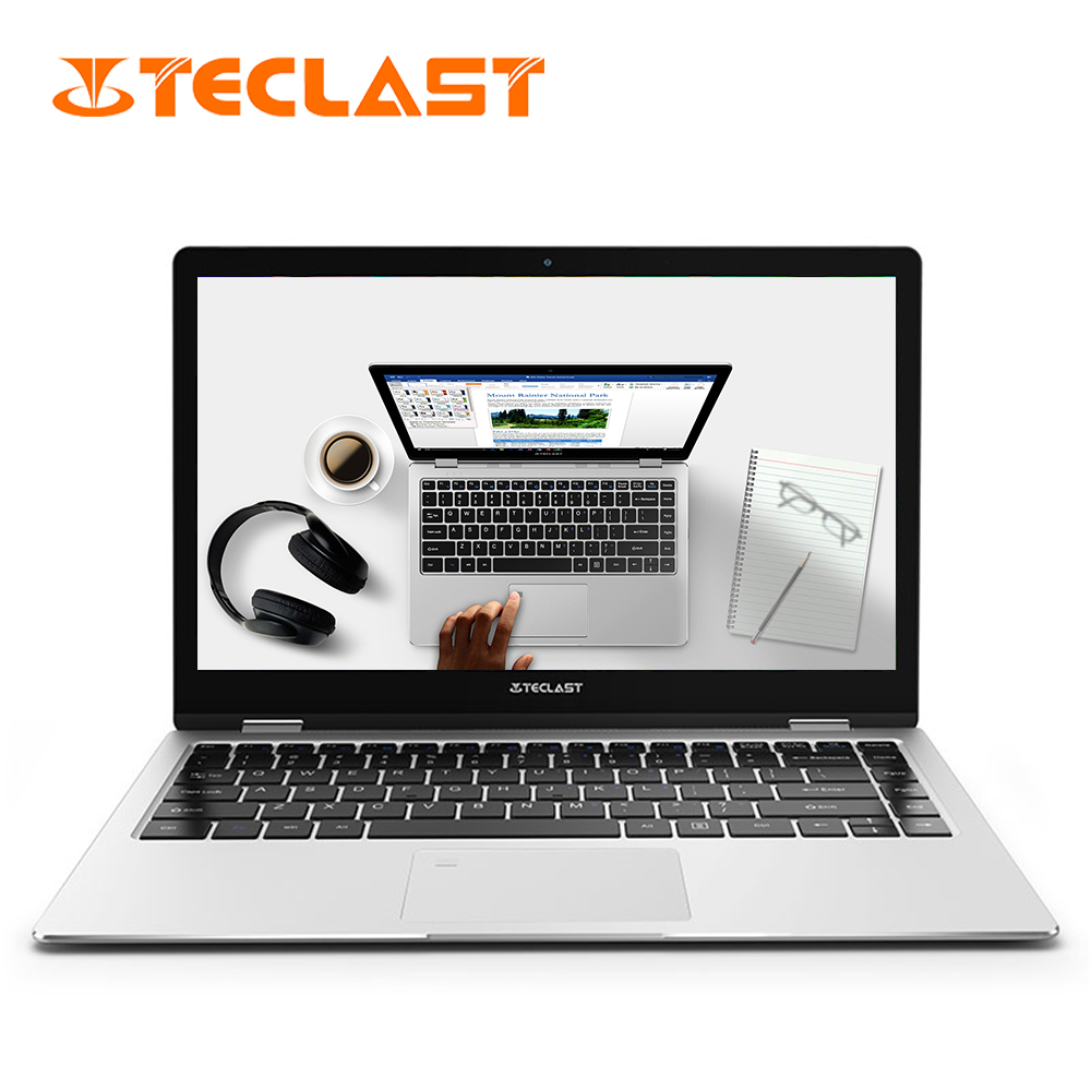 Laptop Teclast F6 Pro 13.3'' 1920*1080 Dual Core 8GB RAM 128GB SSD ROM Windows10 Intel Notebook Fingerprint I7 Computer Keyboard(China)