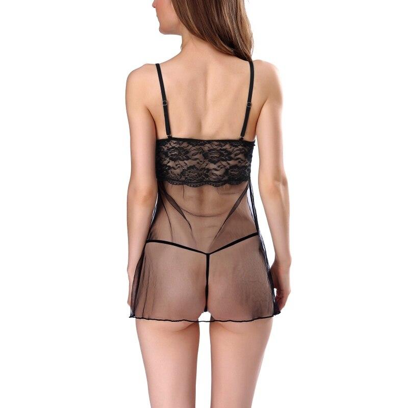 new lower prices best prices official shop Femmes Jacobs Babydoll Sexy Lingerie de Nuit Transparente ...