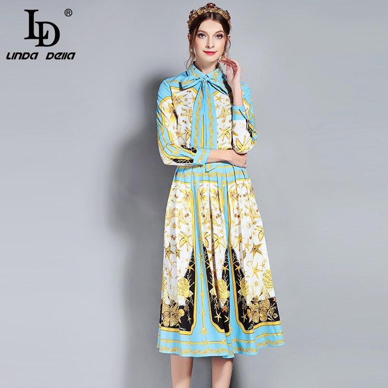Designer Jupe Ld Blouse Des Pièces Imprimer Et Piste Col Vintage Femmes Della Ensemble Linda À Multi Longues Deux Nouveau Manches Costumes Arc TTwStq