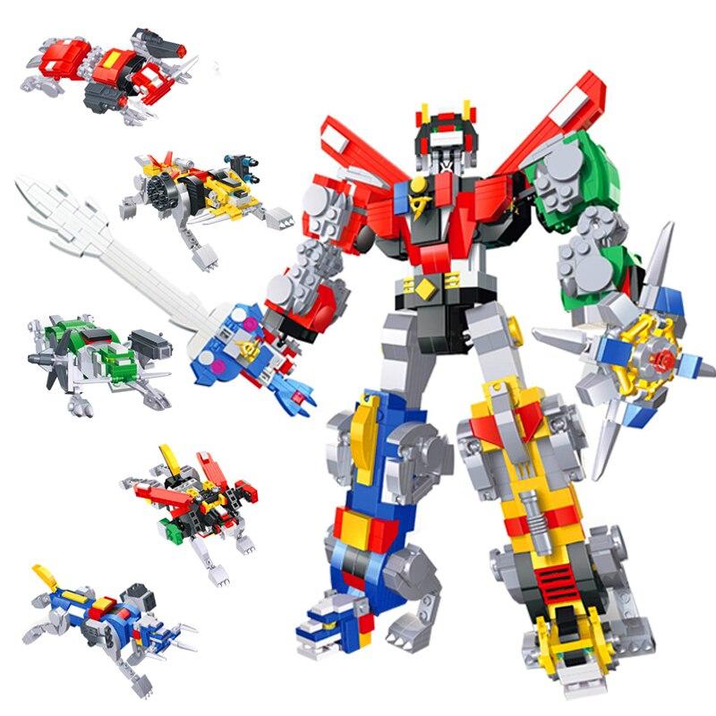 2019 NEW HSANHE Creator Expert Robot Defender Universe Voltron Building  Blocks Sets Kits Bricks Trans Movie Kids Toys Marvel