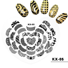 Wholesale 100pcs Professional Nail Art Stamp Work Space Nail Stamping Plate Washable Silicon Guide Printing Table