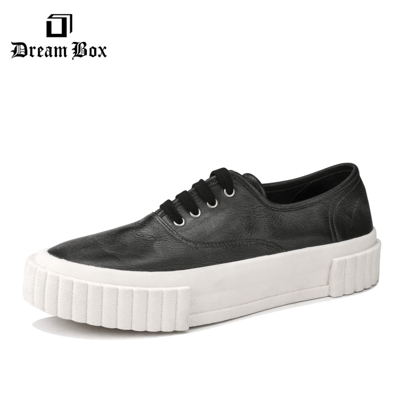 dreambox2017 The new style men's vintage  thick soled and height Increasing  shoes flat shoes dreambox europe and the united states men s wear thick soled shoes horsehair breathable leather shoes