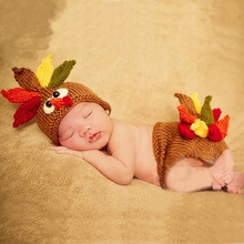 Newborn Baby Girl Boy Turkey Crochet Hat Photography Props Outfits Infant Baby Fotografia Photo Shoot Props Accessories Clothes
