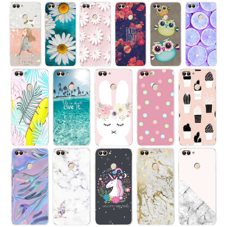 J Huawei P Smart Case TPU Zachte Siliconen Transparant Back Cover Phone Case Huawei P Smart Cover FIG-LX1 Genieten 7 S Case