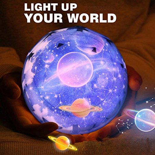 LED Rotating Star Projector Novelty Lighting USB AA Battery Powered LED Night Lamp Novelty Baby Light for Christmas Gift