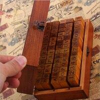 1 Set Wood Rubber Stamps With Wooden Box 70 Pcs Alphabet Letter DIY Multi Purpose Regular
