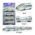 4 ШТ. В Сочетании сборка Сплава поезд модели автомобилей вагонов модели магнит локомотивом вагона малыш игрушка в подарок