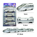 4PCS Combined assembly Alloy train car models railcar model of the magnet  locomotive carriage kid toy gift