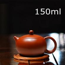 Neue Ankunft Handgefertigten Xi Shi Topf Mit Tee-ei Teekanne Red Clay Tetera 150 ml Zhu Ni Porzellan Antike Chinesische Keramik wasserkocher