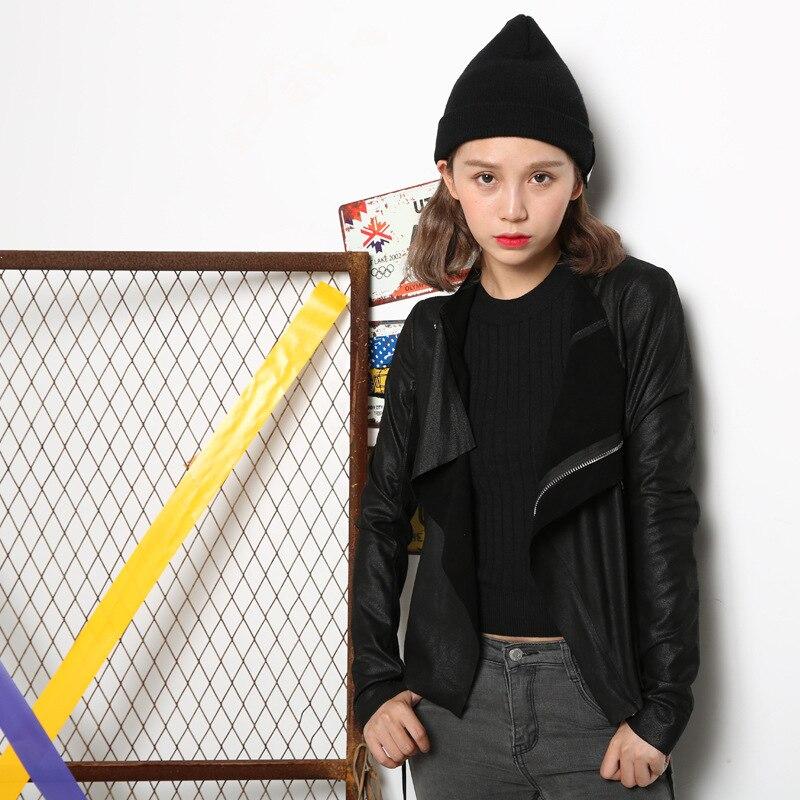 07e203bee73 Winter Sheepskin Black Bomber Genuine Nubuck Leather Jacket Women Jaqueta  De Couro Veste En Cuir Femme Basic Coats 2016 Ukraine-in Leather   Suede  from ...