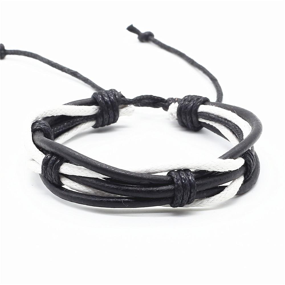 Rasta Styled Unisex Leather Bracelet Bangles & Bracelets