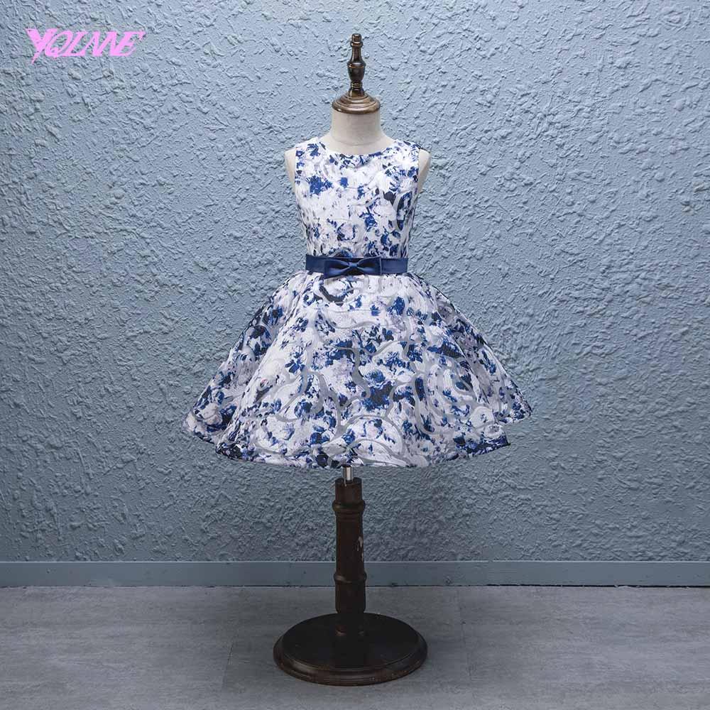 YQLNNE Elegant Ball Gown   Flower     Girl     Dresses   Communion Party   Dress   for Weddings Vestido Daminha