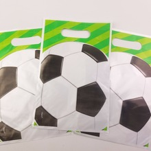 10pcs Gift Bag Football Sport Happy Birthday Party Disposable Loot Candy Bags Decoration Kids Favors party Supplies