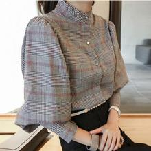 TWOTWINSTYLE Perspective Tops Female Bowknot Flare Long Sleeve Ruffle Shirt Blouse