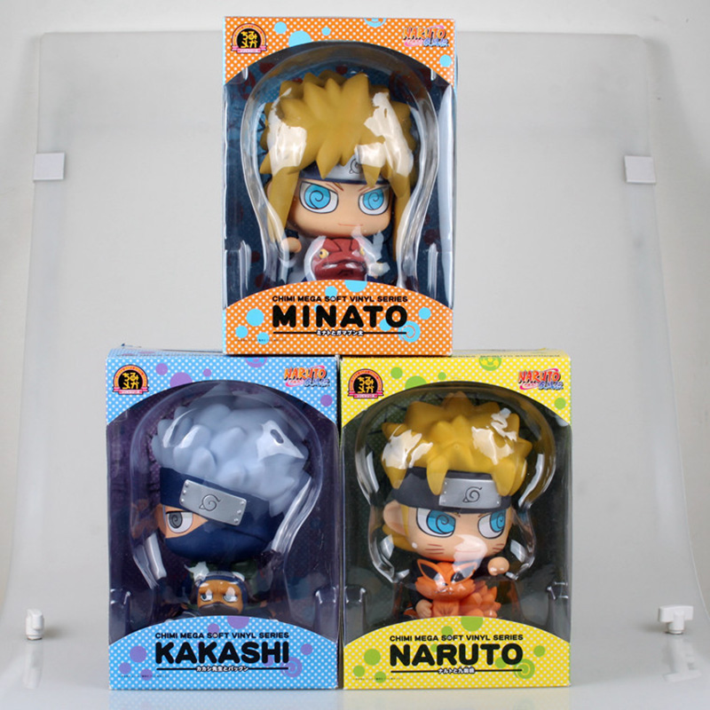 Naruto JIRAIYA/Uzumaki/Hatake Kakashi Action Figure 15CM Money Box Anime Model Figures Dolls Boxed Classic Collection HY0002 free shipping 12 naruto anime ninja copiador hatake kakashi light blade stand boxed 30cm pvc action figure collection model toy