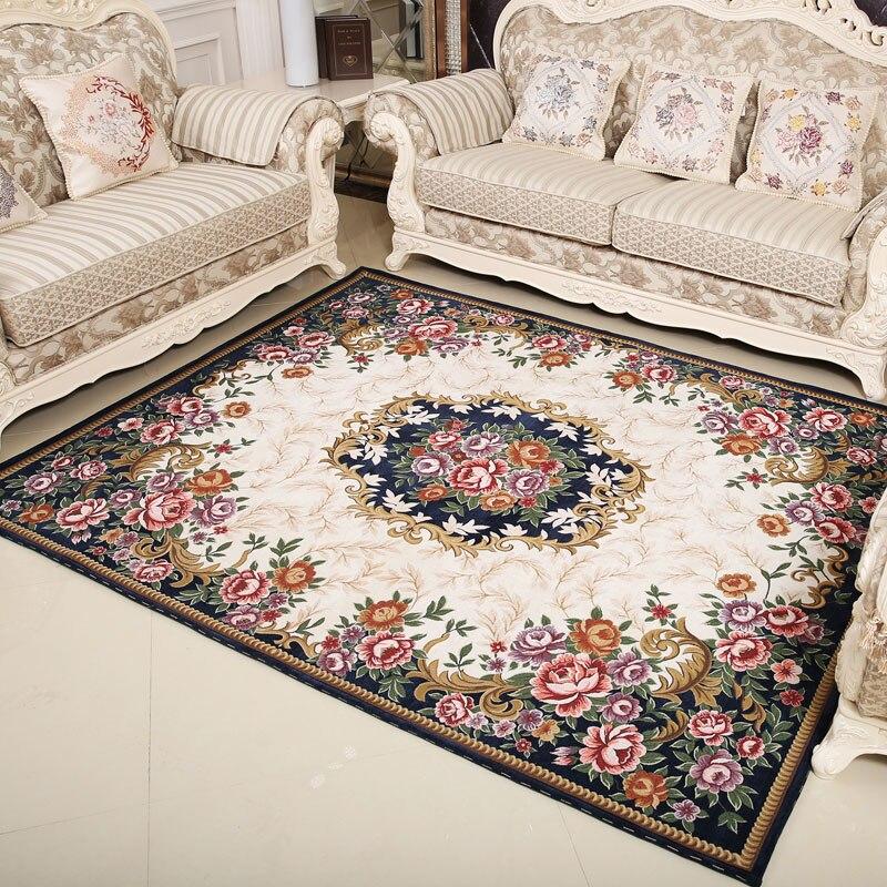Honlaker classique européenne cour tapis moderne salon décoratif tapis thé Table tapis de sol chambre tapis