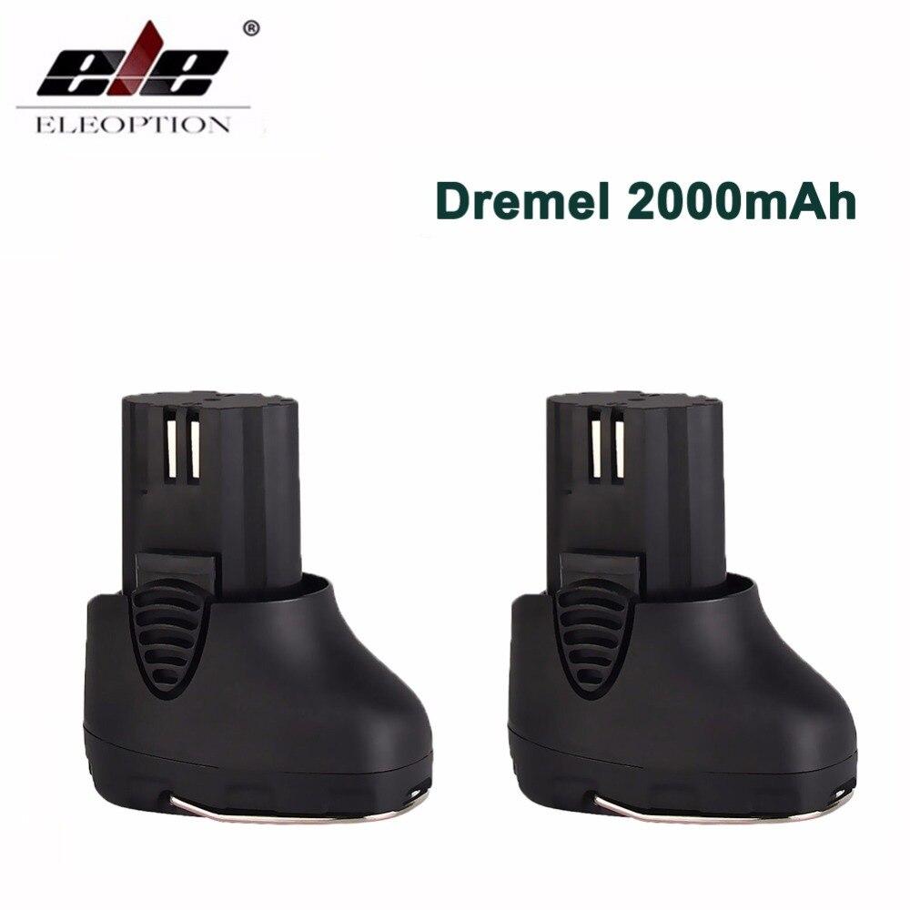 ELE ELEOPTION 2PCS 10 8V 2000mAh Li ion Replacement Battery for Dremel 855 01 855 02