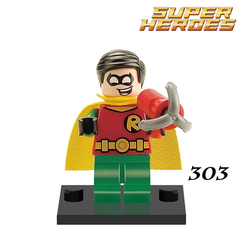 1PC DC Robin Captain America Red Skull Super Heroes Batman Avengers Children Classic Models Building Blocks Kids Learning Toys