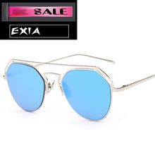 Blue Lenses Sunglasses Women UVA Anti-Glare Fashion Glasses EXIA OPTICAL KD-0760 Series