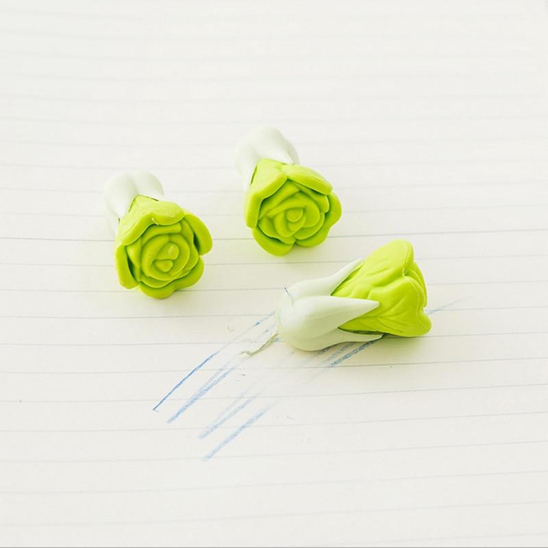 Купить с кэшбэком 2 pcs/lot kawaii vegetables Creative eraser creative stationery school supplies papelaria Scolastici child  stationery