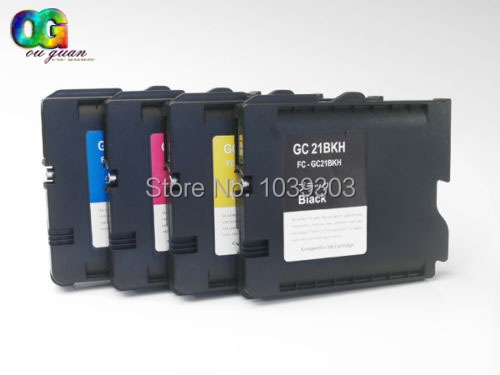 4PCS Compatible with chip for Ricoh GC21 for example Lanier GX 7000 GX 2500 GX 3000 GX 3000 S 3000 printer inkjet