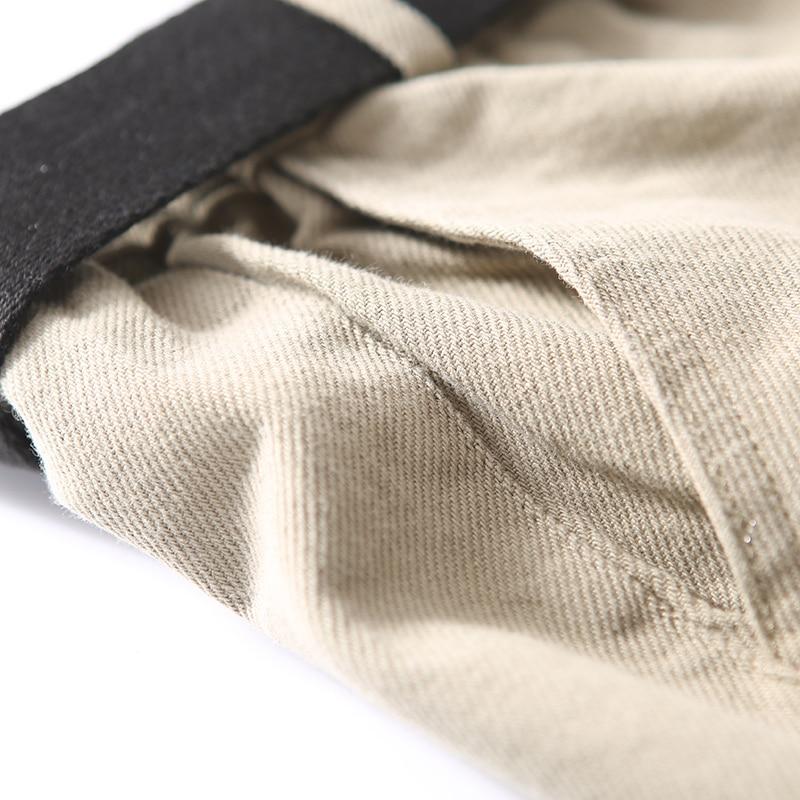 Larga Pantaloni Black green Cinghia Puro Tuta K5003 Grande Formato Gamba Della Artistico Contrasto Cotone Femminile Di Casual Colore ffOTqa7