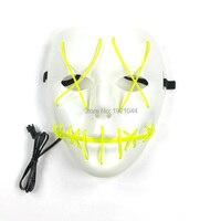 Бесплатная доставка 10 штук 10 Цвета доступны EL Провода флэш маска электролюминесцентный Провода Night Party Mask 3 В звуковая активация драйвер