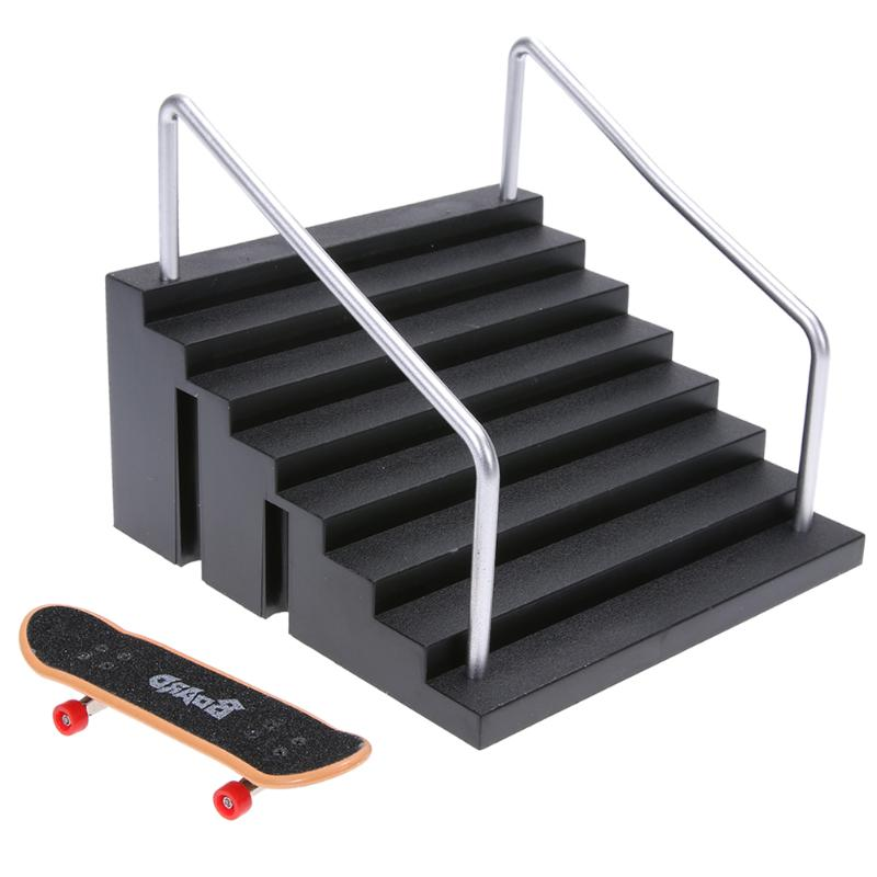 Mini Table Game Finger Skating Board with Ramp Parts Track for Deck Fingerboard Toy Finger Skate Training Board Toys