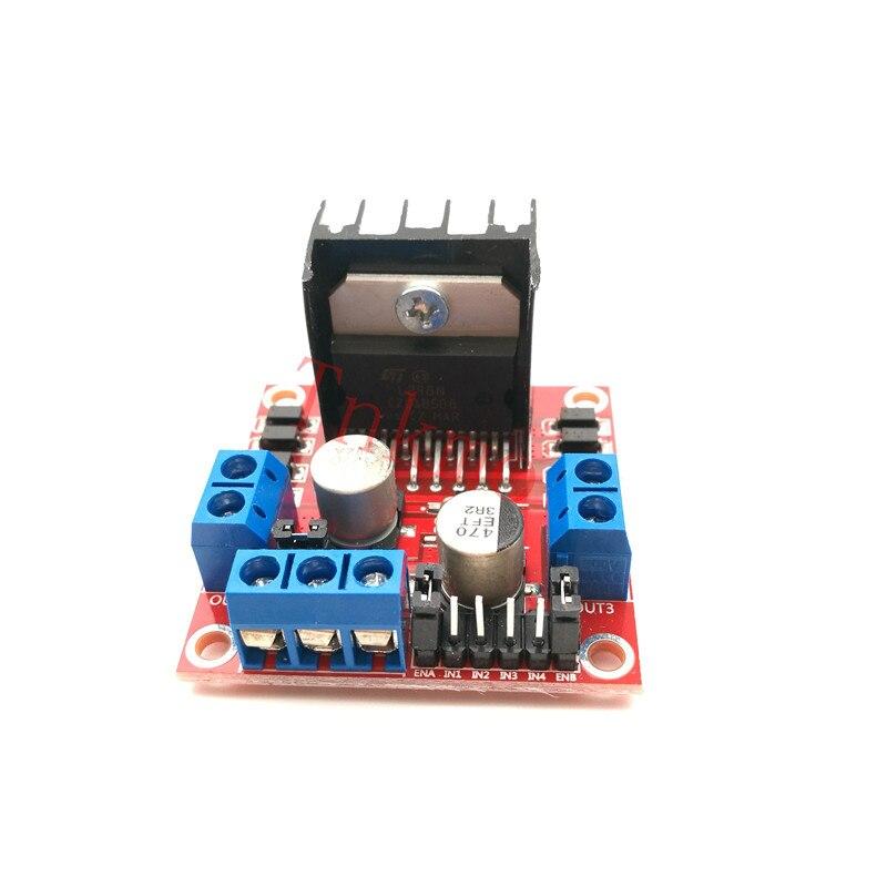 1PCS Dual H Bridge DC Stepper Motor Drive Controller Board Module L298N MOTOR DRIVER for Arduino freeshippig the best price red board l298n motor driver board module l298n