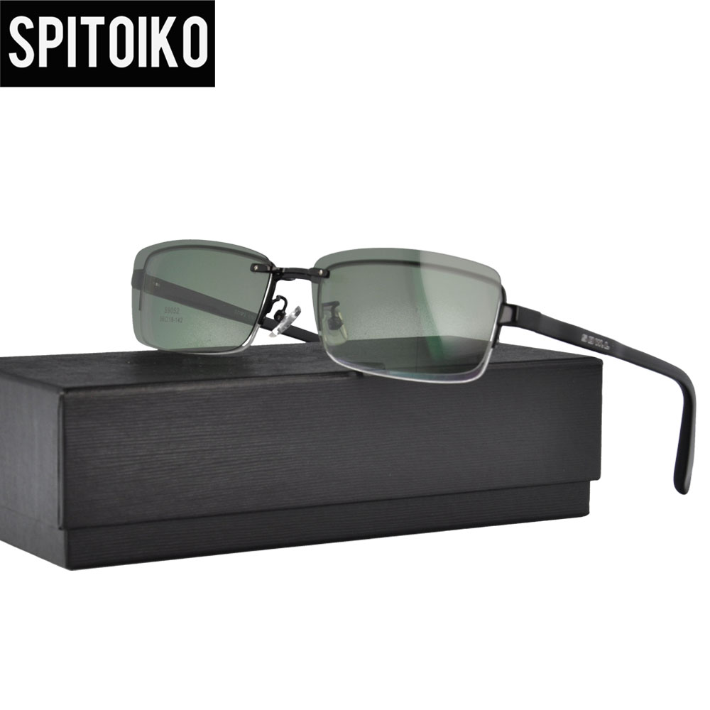 8927b76b55 Sunglasses Men Polarized Magnetic Clip On Glasses Male Half Rim Spectacle  Myopia Eyeglasses Optical Frames