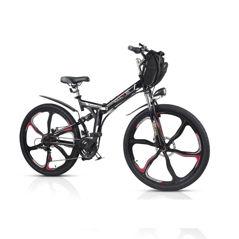 26-inch 21-speed folding mountain electric bicycle 48V lithium bike Bicycle  mini long 74fb349e1700
