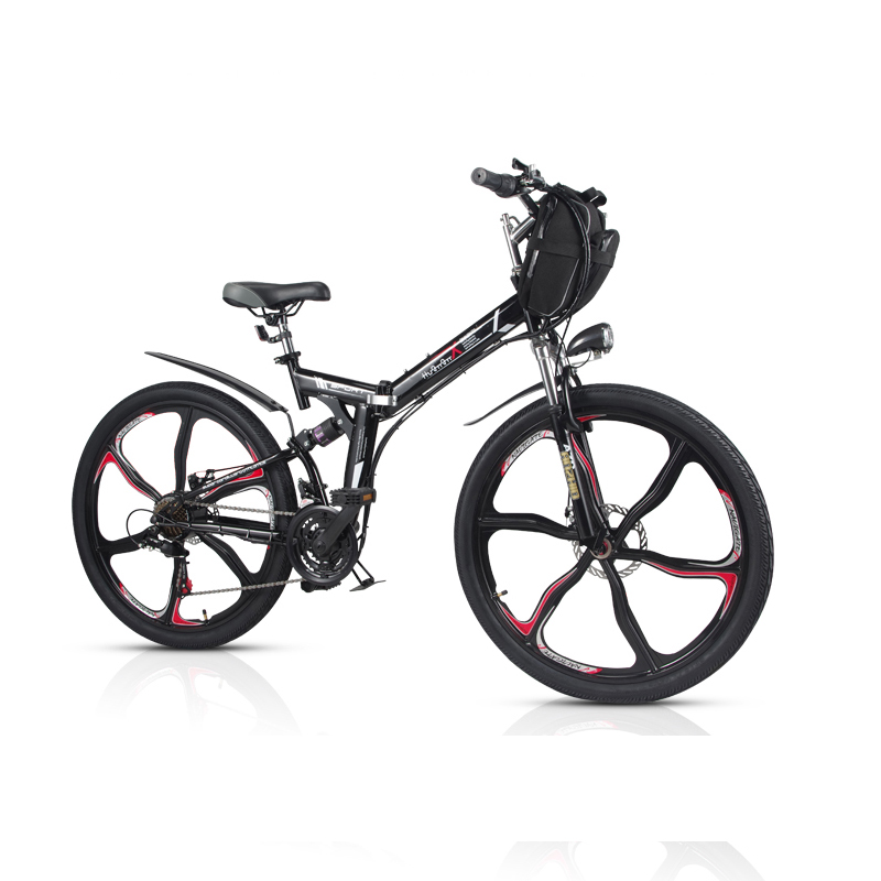 26-inch 21-speed folding mountain electric bicycle 48V lithium bike Bicycle mini long rang Ebike adult battery pack samrt lcd