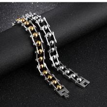 Мужские браслеты высокого качества из нержавеющей стали с цепочкой