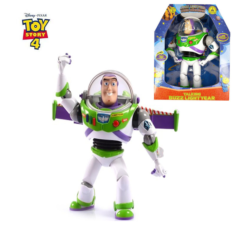 Disney Toy Story 3 4 Talking Buzz Lightyear 30cm PVC Action Figure Collectible Doll Toys Gift For Kids Children Christmas Toys