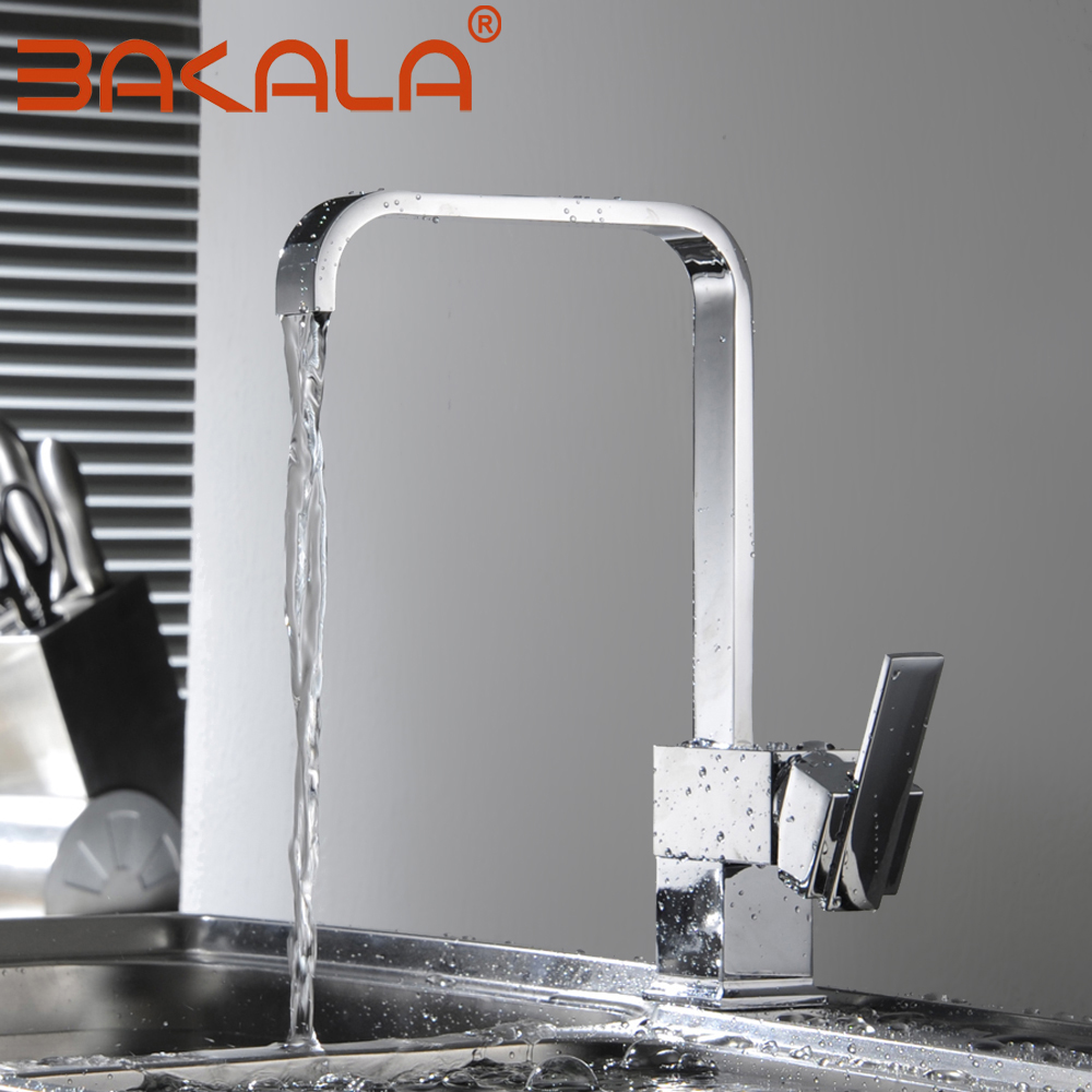 Kitchen Faucets Brass Kitchen Sink Water Faucet Swivel Faucet Mixer Single Holder Single Hole Chrome Mixer Tap For Kitchen 8054