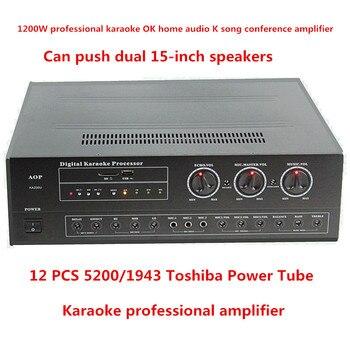 KA200U 2.0-channel stereo 1200W 5200/1943 power tube professional karaoke OK home audio k-song conference amplifier