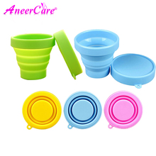 10pcs menstrual cup sterilizer coppetta mestruale  esterilizador  collapsible silicone Outdoor Sport Water Cup sterilizing cup