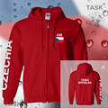 Czechia mens hoodies and sweatshirt polo sweat suit streetwear tracksuit nations fleece zipper flags Czech Republic 2017 country