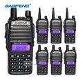 6 unids de largo alcance walkie talkies con auricular baofeng uv-82 de doble banda vhf/uhf cb radio portátil comunicador antena de transmisor-receptor