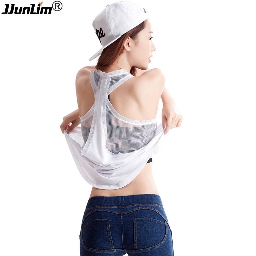 2017 Sport Débardeur Femmes De Yoga Top Féminin Sexy Remise En Forme Gilet T-shirt À Manches Courtes Shirt de Course Sport Workout Gym t-shirts