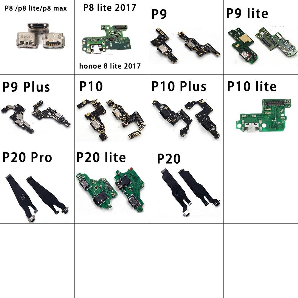 Charger PCB Flex For Huawei Ascend P8 P9 P10 P20 Lite Plus 2017 Pro USB Port Connector Dock Charging Flex Cable Repair Part