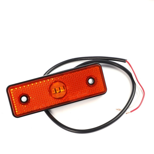 1 piece 24V LED Side marker light Amber Reflector Trailer  sign position Lamp For Truck car accessory ATV RV Caravan Motor SUV