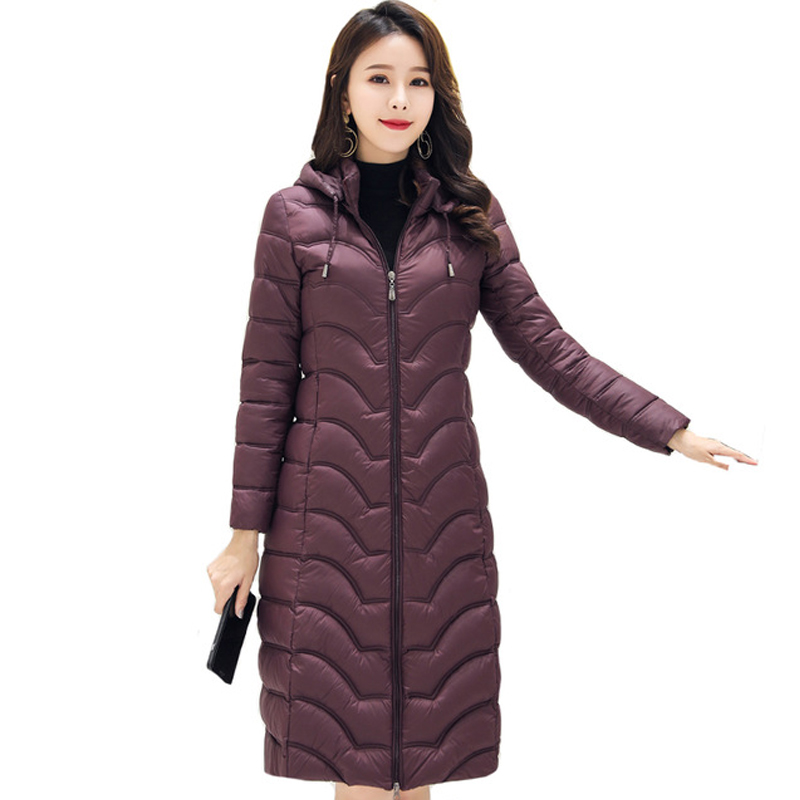 High Quality 2019 Winter Jacket Women Hooded Cotton Padded Ladies Slim Coat Long   Parka   Mujer Invierno