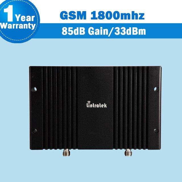GSM/DCS 1800 мГц Мобильной Сотовой Booster Lintratek 85dB 33dBm Усиления Мобильного Телефона Покрытия Ретранслятора 1800 квадратных т Amplificador Для проект