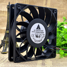 Free by DHL The Original Delta PFC1212DE 12038 120MM computer /server case Big power Cooling fan 12V 4.8A with 2pin цена