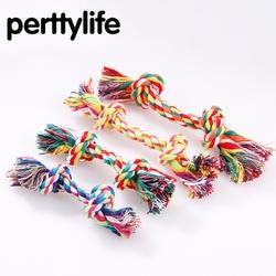 PERTTYLIFE двойной узел собака кусает веревки кошек и собак, обученных укусить устойчивостью хлопка веревка игрушка ПЭТ узел мяч моляров TOY2