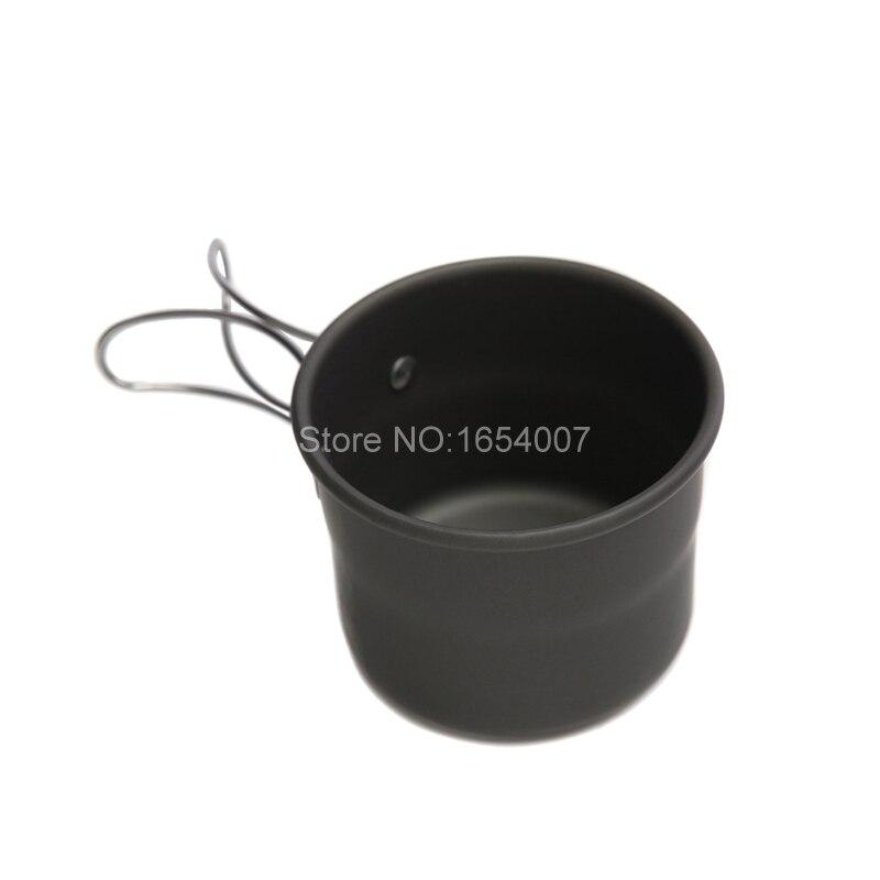 1 peças Alocs 150 ml Acampamento Ao Ar Livre Portátil Xícara de Água Drinkware Copos de Óxido de Alumínio Com Alças Dobráveis Garrafas de Água TW-402