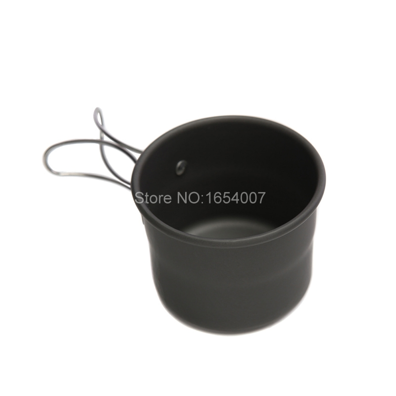 1pcs Alocs 150ml Portable Outdoor Camping Drinkware Cups Aluminum Oxide Water Cup With Foldable Handles Water Bottles TW-402